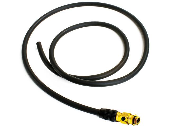 Lezyne Ersatzschlauch mit ABS Flip-Ventil f. Pressure und MFD Pumpen schwarz/gold